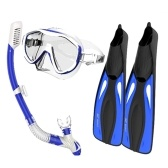 Snorkel Goggles Flippers Set