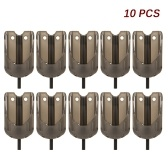 10 Pcs Carp Fishing Bait Feeder Fishing Lure Cage Fishing Bait Holder Fishing Accessory
