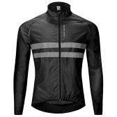 Светоотражающая ветровая куртка с длинным рукавом из велосипедного джерси Водонепроницаемая ветрозащитная куртка для спорта на открытом воздухе Велоспорт Куртка для бега