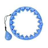 2 in 1 Fitness und Massage Taille Fitness Hoop Non-Fall 24 abnehmbare Knoten mit automatisch drehendem Ball für Erwachsene Kinder Abnehmen Übung