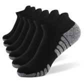6 Paar Sport Fußsocken Athletic Low-Cut-Socken Dick gestrickt Herbst Winter Socken Outdoor Fitness Atmungsaktiv Schnelltrocknende Socken Verschleißfeste warme Socken Leichte rutschfeste No-Show-Socken für Marathonlauf