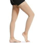 1 Pair Thigh High Compression Socks Men Women 20-30mmHg Compression Stockings Compression Sleeves for Varicose Vein Swelling