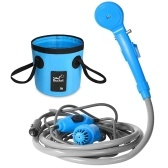 Camping Shower 12V Electric Outdoor Shower Folding Bucket Kit