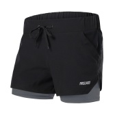 Women 2-in-1 Running Shorts Quick Drying Breathable Active Training Jogging Cycling Workout Shorts with Liner
