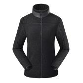 Sherpa Jacken Fuzzy Fleece Teddy Cardigan Seitentaschen Reißverschluss Stehkragen Mantel für Mann Frauen Winter