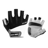 Outdoor Cycling Gloves Anti-Skip Shock-Absorbing Half-Finger Moisture-Wicking Breathable Climbing Mitten