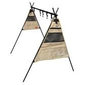 Outdoor-Kochgeschirr-Aufhängeregal Faltbares tragbares Camping-Aufbewahrungsregal mit Aufbewahrungsbeutelhaken