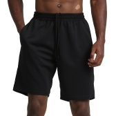 Men Sport Shorts Quick Dry Side Pockets Elastic Waist Short Pants for Workout Basketball Running Casual