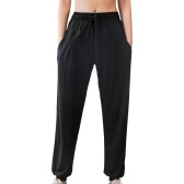 Women Sport Pants Quick Dry with Pockets Drawstring Elastic Waist Trouser Joggers Casual