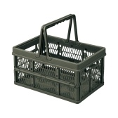 Collapsible Storage Crates with Handles Stackable Storage Container Camping Grocery Shopping Basket