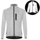 Светоотражающая куртка с высокой видимостью, водонепроницаемая ветрозащитная куртка для ночного спорта на открытом воздухе, беговая велосипедная куртка