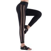 Mesh Yoga Leggings Women Yoga Pants High Waist Yoga Pants Tummy Control Yoga Stretch Workout Yoga Leggings