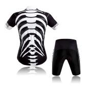 Conjunto de malha de ciclismo de manga curta e shorts acolchoados para homens e mulheres de secagem rápida respirável para mountain bike roupas de camisa