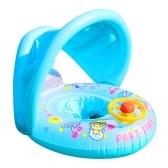 Портативный надувной круг, детский поплавок, детский плавательный круг с зонтиком, аксессуары для бассейна