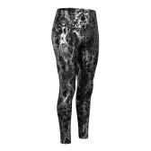 Frauen Yoga Hosen Schlangenleder Print High Waist Butt Lifting Leggings Feuchtigkeitsableitende Laufstrumpfhosen