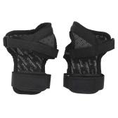 Pulseiras pretas de patinação para crianças e adultos de esportes no gelo luvas de proteção rígidas