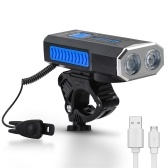 WEST BIKING USB 1000 Lumens Bike Light 360° Rotate Base with Horn Bike Headlight Cycling Equipment