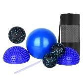 6 шт., Массажные шары, сумка для хранения, набор для снятия стресса, подарки, глубокие ткани, рефлексология мышц для йоги, домашний тренажерный зал, тренировка