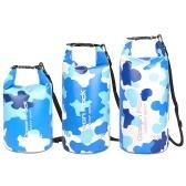 5L / 10L / 15L Водонепроницаемый сухой мешок Roll Up Сухой компрессионный мешок большой емкости сумка-ведро для кемпинга дрейфующего плавания