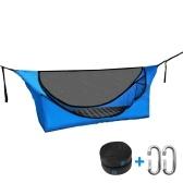 Rede individual de acampamento com rede mosquiteira leve portátil berço cama suspensa cama baloiço de caça para acampamento doméstico mochila viagem praia quintal caminhada rede anti-mosquito
