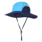 Chapéu de sol feminino com aba larga para rabo de cavalo de verão chapéu dobrável para viagem na praia, caminhada, acampamento, jardinagem
