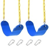 Swings Seat Playground Swing Set with EVA Seats Plastic Coated Chain Snap Hooks and Carabiners