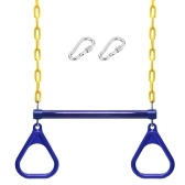Trapeze Swing Bar and Rings Heavy Duty Playground Swing Set with 47