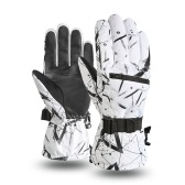 Luvas de inverno para homens e mulheres Engrossar Luvas de esqui Luvas de esqui Luvas de tela sensível ao toque à prova d