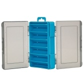 Mini caixa de pesca isca isca de pesca ganchos caixa de armazenamento dupla face acessórios de pesca organizador de estojo