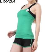 Mujeres sin mangas Lixada yoga respirable establecidos Deportes Top de sujetador + shorts para Running Fitness Gym