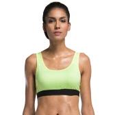 Sport-BH Full Coverage Frauen schulterfrei herausnehmbare, gepolsterte Draht Freies Quickdry Jogging Yoga-Unterwäsche