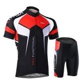 Uomo manica corta confortevole asciutto rapido traspirante maglia + pantaloncini imbottiti abbigliamento ciclismo impostare Equitazione Abbigliamento sportivo