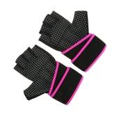 TOMSHOO Unisex levantamento de peso das luvas Luvas de forma física com pulso Enrole Anti-derrapante design respirável confortável
