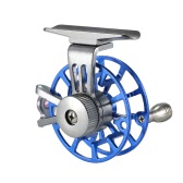 Мини Ultralight Fly Reel правшой Fly Fishing Reel CNC Обработанные алюминиевый Full Metal Reel Бывший Ice Fishing Колесо тамбура Снасть Tool