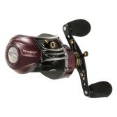 17 + 1 Cuscinetti a sfere Sinistra / Destra Cinghia a spinta Rapporto di rotazione della bobina 6.3: 1 Baitcasting Reel Fishing Tackle Tool