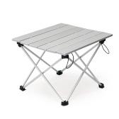 Aluminium Faltbarer zusammenklappbarer Camping Tisch mit Tragetasche für Outdoor Indoor Picknick Strand Wandern Reisen Angeln Aktivitäten