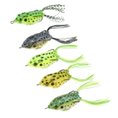 Lixada 5PCS 6.5cm 14g Fishing Lure Set with Tackle Box Including Plastic Soft Lures