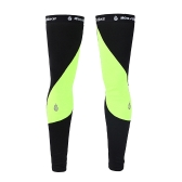 Unisex Windproof Thermal Pile Cycling Leg Warmers Manicotti di compressione Inverno Sport all'aria aperta Mountain Road Bike Bicicletta Leggings