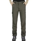 Pantaloni da windproof Pantaloni sportivi all'aperto da uomo Pantaloni di rapida asciugatura calda in inverno Pantaloni Camping Escursionismo Arrampicata Pesca Mountain Pantaloni