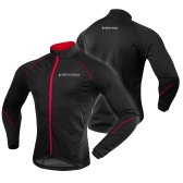 Otoño Invierno Fleece térmica a prueba de viento chaqueta de ciclismo deporte al aire libre de manga larga MTB Bike Bicycle Riding Jersey Coat