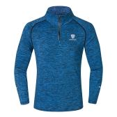 Camiseta de manga larga deportiva de manga larga para hombres Camiseta de secado rápido deportiva para correr al aire libre Camiseta de entrenamiento deportiva para montañismo