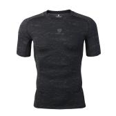 Fitness Sportswear Medias Tops Springy Short Sleeve Camiseta de secado rápido Basketball Running Trainning Camisa de compresión