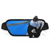 Multi Funzionale Escursionismo Marsupio Portabottiglie Borsa da corsa con singola cintura regolabile per la corsa in campeggio