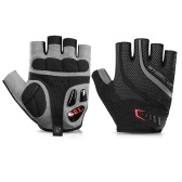 1 Pair Bike Gloves Half Finger Anti-skid Gloves Bicycle Cycling Riding Motorcycle Shockproof Sports Mitt Fingerless Gloves