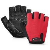 1 пара наполовину пальцев противоскользящие велосипедные перчатки