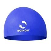 Casquillo de natación de silicona de alta elasticidad Cuidado del cabello cómodo a prueba de agua Protege orejas Ultra estiramiento Sombrero de natación