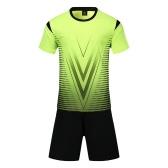 Lixada Set de camisetas de fútbol profesional para adultos / niños Set de fútbol respirable Set de camisetas de fútbol uniformes para niños Kit de fútbol camisa chándal