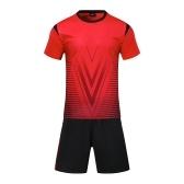 Lixada maglie di calcio professionale set per adulti / bambini set di calcio traspirante pullover di calcio uniformi bambini kit di calcio camicia tuta