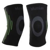 Mumian Knee Compressione Brace Sleeve Wrap Protector Pad Ginocchio con supporto in silicone antiscivolo per la corsa Jogging Sports Fitness