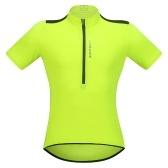 Мужская с коротким рукавом Велоспорт Джерси Breathable Half Zipper MTB Верховая езда Велосипедная рубашка Топ